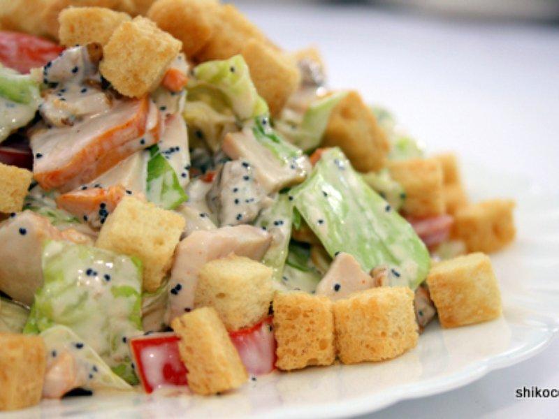 Рецепты салатов копченой курицей фото